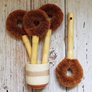 coconut fiber dish brush